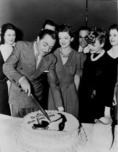 Bill Powell celebrates his birthday on the set of Another Thin Man, 1938