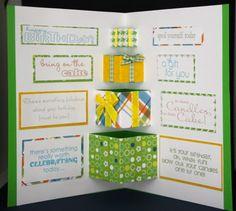 Inside Stamping up birthday card Binnenkant Stamping up Verjaardag
