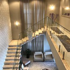 Modern stairs - Building a two-story home in among the contemporary designs, among the major questions to be addressed is Home Stairs Design, Stair Railing Design, Stair Decor, Interior Stairs, Dream Home Design, Modern House Design, Modern Interior Design, House Staircase, Modern Stairs