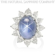 This incredible Star Sapphire and diamond ring is truly one of a kind. The 26 carat star sapphire is a beautiful medium sky blue with a sharp six-rayed star tha White Gold Sapphire Ring, Blue Star Sapphire, Sapphire Jewelry, White Gold Rings, High Jewelry, Gold Jewelry, Vintage Jewelry, Jewelry Rings, Jewlery