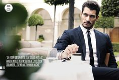 Supermodel David Gandy poses in suits by Dolce and Gabbana for the latest edition of Esquire Latin America. David's hair styling is courtesy of Guy Romeo. David Gandy Style, David James Gandy, David Gandy Suit, Look Fashion, Mens Fashion, Gentleman Style, Esquire, Madame, Gorgeous Men