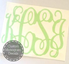 We can create a custom four letter monogram for you. Just email your custom request to CustomMonogramDecal@gmail.com to get started.