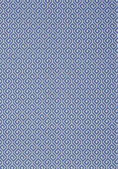 Thibaut Fabric Geometric: W77966 Kyra Key in Blue. Resort. #EstateofDesign