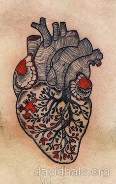 david hale heart tattoo