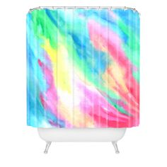 Rosie Brown Rainbow Connection Shower Curtain | DENY Designs Home Accessories #shower #curtain #beth #homedecor #art #abstract #denydesigns