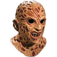 Nightmare On Elm Street Men's Mask Brown Freddy Krueger Super Deluxe Overhead Collector Quality Latex Mask - Whats Scarier Than A Scary Halloween Mask? Wear One Coastumes Halloween Effrayants, Mascaras Halloween, Masque Halloween, Creepy Halloween Costumes, Spirit Halloween, Trendy Halloween, Halloween Goodies, Movie Costumes, Halloween Cosplay