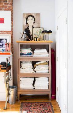 makeshift dresser
