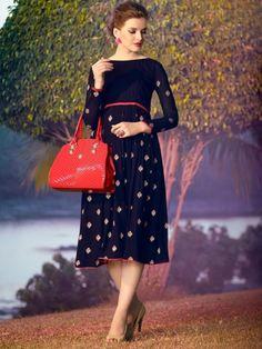 #stylishKurti #Designercollection2015 #Kurtis #Blue #womansvilla #womansfashion