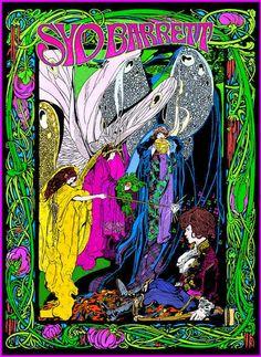 ➳➳➳☮ American Hippie Music Art - Liz's Wild West Show: Syd Barrett, Bob Masse concert poster