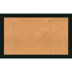 framed cork board choose your custom size portico espresso wood 66 x 34inch brown products