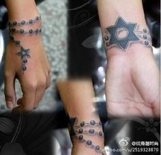 I want a giant Star of David tattooed in that exact spot. Looks classy. And like a rosary. +1