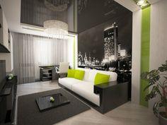 moderne wohnzimmereinrichtung mit kräftigen farbakzenten | tv ... - Moderne Wohnzimmereinrichtung