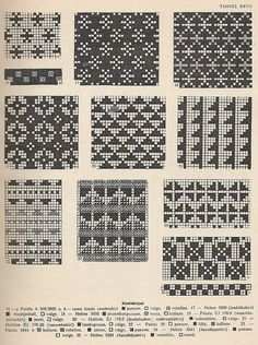 """petitepointplace: """"Icelandic knitting patterns for mittens. They'd be great for cross stitch as well. Fair Isle Knitting Patterns, Fair Isle Pattern, Knitting Charts, Knitting Designs, Knitting Stitches, Knitting Yarn, Mittens Pattern, Tapestry Crochet, Crochet Chart"""