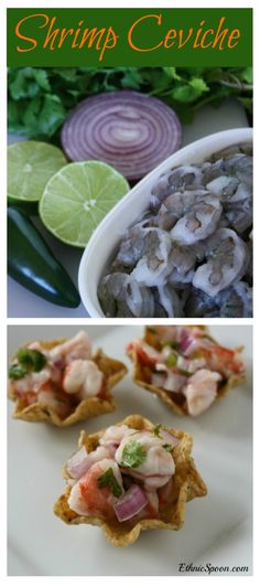 "Shrimp ceviche is a variation on the traditional Latin American fish marinated or ""cooked"" in citrus. 