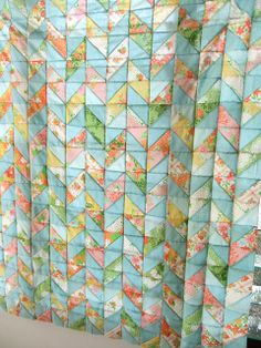 Chevron quilt top | Flickr - Photo Sharing!  LOVE THE MUTED COLORS IN THIS!
