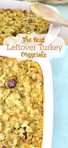 This is SO easy and SO good. Made this with my turkey leftovers a few times now and am impressed every time. The post Best Leftover Turkey Casserole appeared first on Tasty Recipes. One Dish Meals Tasty Recipes Easy Leftover Turkey Recipes, Thanksgiving Leftover Recipes, Leftovers Recipes, Turkey Leftovers, Dinner Recipes, Thanksgiving Leftovers, Thanksgiving Casserole, Turkey Dishes, Christmas Recipes