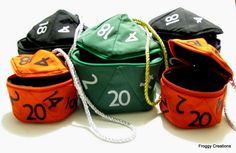 D20 Gamer Dice Bag
