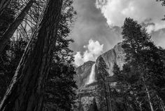 Looking up at Upper Yosemite Falls, in the Spring season when the waters were rushing! KGS Photo
