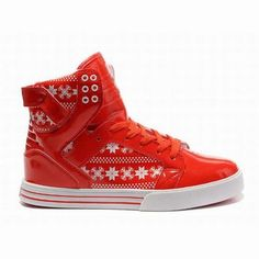 New Supra Skytop High Tops Red White Men Shoes 26558