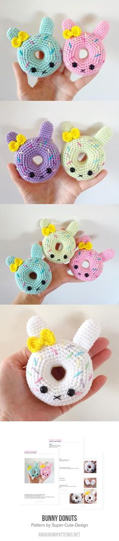 Bunny Donuts amigurumi pattern by Super Cute Design