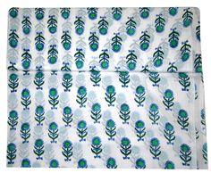 5 Yard Hand Block Print Handmade Cotton Natural Floral Print sanganeri Fabric   #Handmade