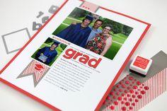 Pixel to Page: Grad Hybrid Scrapbooking Layout - CZ Design Junior Year, Scrapbooks, True Stories, Wedding Planner, Stationery, Layout, Photo Books, Journals, Blog