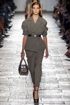 Fatigues Please While utility might serve as the inspiration,these khakis and army greens are more about standing out than blending in—from ruffled greens at Johanna Ortiz to sheerat Balmain and mini camo at Marc Jacobs