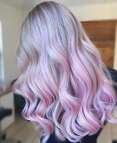 Soft Pink Hair Curls