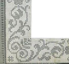Hobilerim ve ben: 2019 - Juul Lo Filet Crochet Charts, Crochet Borders, Crochet Cross, Wedding Cross Stitch Patterns, Modern Cross Stitch Patterns, Cross Stitch Designs, Crochet Bedspread Pattern, Pillowcase Pattern, Crochet Patterns