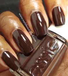 Essie Little Brown Dress| Nails Beautiqued