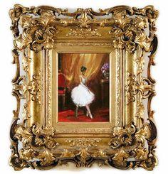 ABruxinhaCoisasGirasdaCarmita: Oleo sobre tela ( a bailarina )