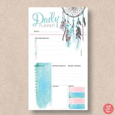 PERSONAL SIZE Printable Filofax Page Inserts. Fits the Filofax   Etsy Time Planner, Monthly Planner, Printable Planner, Printables, Planner Template, Happy Planner, Erin Condren, Daytimer Planner, Planners