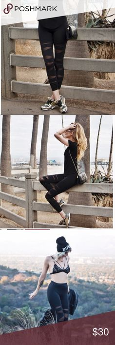 Back in black! Back in Black Leggings are the ideal staple for your wardrobe. Form fitting leggings with cut out detail are ultra hip. ** Back now!!! These are Not lulu - similar in style only - fashion legging xx lululemon athletica Pants Leggings