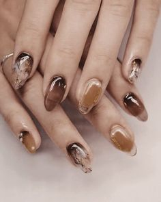 Image about nails in Nail Art 💖 by Nail Design Stiletto, Nail Design Glitter, Cute Nails, Pretty Nails, My Nails, Marble Nail Art, Minimalist Nails, Dream Nails, Stylish Nails