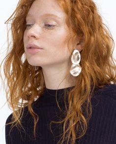 Image 3 of RAISED DESIGN EARRINGS from Zara