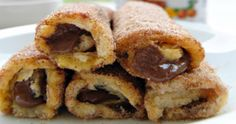Easy to make, these french toast rolls are perfect for a brunch or a breakfast! Learn how to make this French toast roll ups in a few minutes (video included) French Toast Roll Ups, Nutella French Toast, Roll Ups Recipes, Lamb Stew, Sweets Cake, Best Breakfast, International Recipes, Brunch, Favorite Recipes