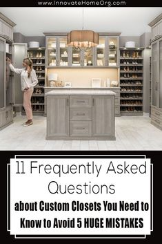 Check out these 11 frequently asked questions about custom closets you NEED to know! We also give you the 5 HUGE mistakes to avoid | Innovate Building Solutions | Innovate Home Org |  Custom closet | organization closet | storage solutions | #walkincloset #dreamcloset #closetmistakes #StorageOptions Custom Closet Design, Custom Closets, Closet Storage, Closet Organization, Glass Floor, Contemporary Homes, Industrial Chic, Storage Solutions, Mistakes