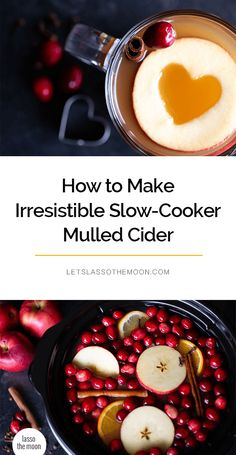 How to Make Irresistible Slow-Cooker Mulled Cider This simple mulled cider recipe only calls for a few simple ingredients: apple cider, spices, a bit of citrus and … a secret ingredient (pure maple syrup). So delicious and easy in the slow cooker. Mulled Cider Recipe, Mulled Apple Cider, Warm Apple Cider, Spiced Cider, Slow Cooker Recipes, Crockpot Recipes, Delicious Recipes, Crockpot Apple Cider, Thanksgiving Dinner Recipes