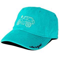 691095c8583 Life is good Women s Native Offroad Jeep Chill Cap - Aqua New Jeep  Wrangler