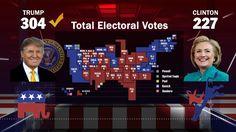 A 2016 Electoral College cartogram map