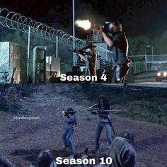 These are the two moments where the parents realized their children are badass The Walking Dead, Walking Dead Series, Rick Grimes, Stuff And Thangs, Andrew Lincoln, Venom, Teen Wolf, Funny Things, Badass