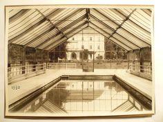 BAŤA - BAZÉN před KLUBOVNÍM DOMEM !!! rok 1930 Louvre, Building, Travel, Viajes, Buildings, Destinations, Traveling, Trips, Louvre Doors