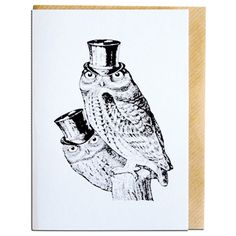 Sophisticated Owls Card