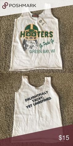 Hooters Shirt original Green Bay New hooters Tops Tank Tops