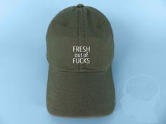 2cd64ca7 Fresh Out Of Fucks Baseball Cap Dad Hat Low by IMPURETHOUGHTS Uh Huh Honey  Hat,