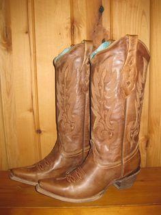 Rivertrail Mercantile - Corral Vintage Tan Cowhide Boots C1928, $209.99 (http://www.rivertrailmercantile.com/corral-vintage-tan-cowhide-boots-c1928/)