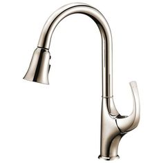 dawn brushed nickel single lever pull spray kitchen faucet modern satin nickel spiral pull kitchen faucet overstock