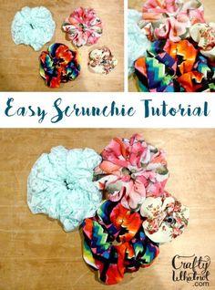 easy scrunchy tutorial   crafty whatnot.com
