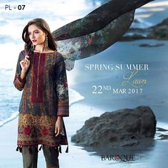 Refresh your closet with our new upcoming luxury Lawn line, Premium Quality, versatile designs with intricate embroideries 😊  New SS'17 Premium Lawn Collection launching, 22nd March 2017.  Visit the link below to PRE-BOOK all your favorites NOW: https://www.baroque.pk  #lawnfever #ss17 #embroidered #premiumlawncollection #luxurylawn #talkoftown #lawnmania #instafashion #fashiongram #lawnmania#baroquefashion #baroqueofficial