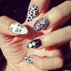 Badass nail art balance it with something feminine my style cat nail art popsugar pets prinsesfo Image collections